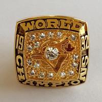 Campeonato de serie mundial 1992 Toronto Blue Jays anillo Replica tamaño 11 Estados Unidos mejor regalo para la colección de ventiladores alta calidad