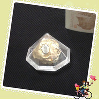 Wholesale Crystal transparent diamond and joyful box European creative candy box wedding diamond bracelet box box
