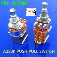 audio taper pots - NEW Tog A250K Audio Taper Push Pull Pot Potentiometer Switch