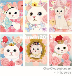 Wholesale vintage Cute Cats choo Postcards group cartoon set Christmas Card Greeting Card Postcard Gift