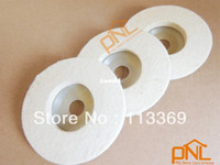 Wholesale 3 pieces of inch Round Wool Felt Polishing Buffing Wheel Pad Off white