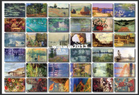 Birthday Cards Sample Retail Paper Free shipping koudai-koudai vintage claude monet boxed postcards 36pcs set Birthday Card Greeting Card Gift Card Fashion Gift