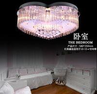 Wholesale Modern fashion led ceiling living room lights crystal lamp bedroom lamp study light heart light