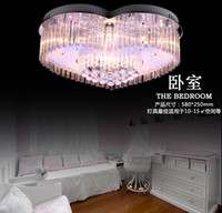 Modern fashion led ceiling living room lights crystal lamp b...