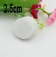 Wholesale Flower flatback cm Round circle Felt accessory White Color patch felt fabric felt pads DIY flower material1000pcs