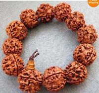 Bangle Unisex Fashion wholesale 16mm Bodhi Seed Prayer Beads Mala Bracelet Tibet Buddhist