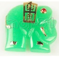 Other Fashion Charms Pretty Green Jade Woman's Elephant Pendant