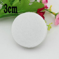Wholesale 3cm white color Round Felt fabric pads accessory patches circle felt pads DIY fabric flower accessories1000pcs