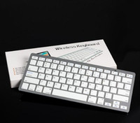 Slim apple keyboard keys - Hot Ultra Slim Aluminum ABS Wireless Keys Bluetooth Keyboard for android device apple