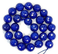 Wholesale 10mm Faceted Blue Sapphire Gemstone Round Loose Beads AAA QF061