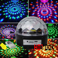 Wholesale mp3 W LED Stage Light RGB player Crystal Magic Ball Effect DMX Control Disco DJ Party Stage Lighting with USB SD card slot for home