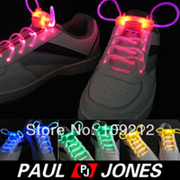 Wholesale nd Gen Modes On Strobe amp Flashing Waterproof Light Up LED Shoelaces Colors O
