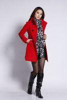 Coats Women Full_Length Sample Order Fashion Winter Women Long Wool Coat 2014 Winter Women Outerwear Overcoat Slim With 5 Colors Thick Woolen Coat Runway L618