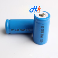 Wholesale 16340 Li ion Rechargeable Battery mAh High Capacity Battery Used For LED Torchlight Outdoor Flashlight
