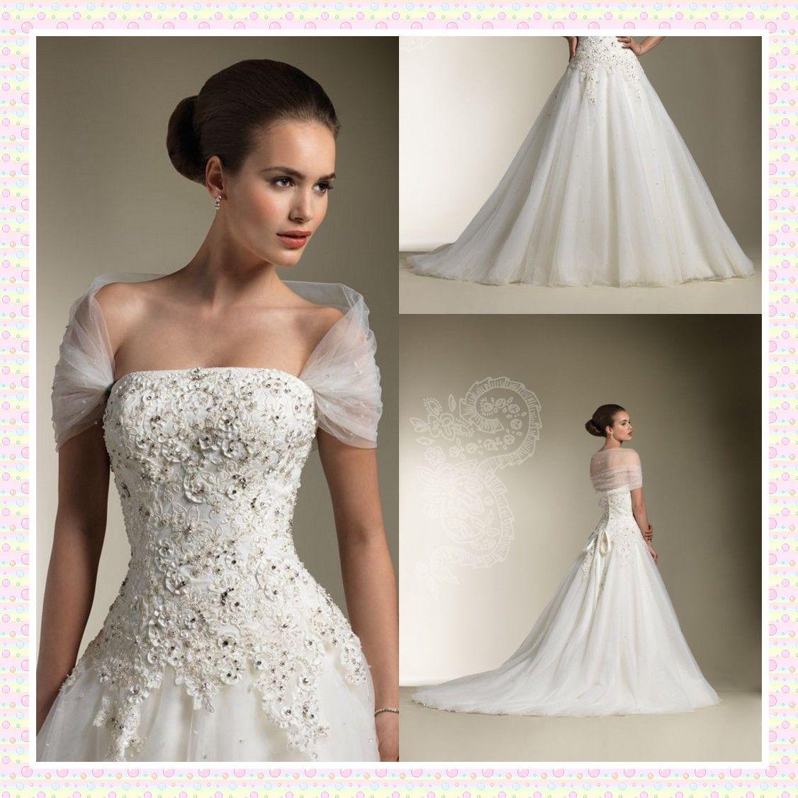 Cowl Backs Ball Gown Bridal Gowns 2014 Elegant Applique
