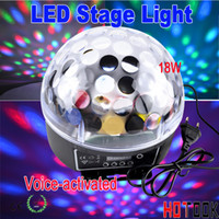 Wholesale Mini LED Stage Light RGB Crystal Magic Ball Effect light DMX Control display screen Pannel Disco DJ Party Laser point Stage Lighting