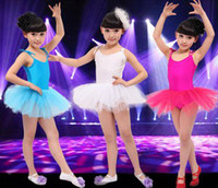 2-4T baby clothes fitness - Children Dance Tulle Dress Baby Girls Ballet Multicolored Adjustable Suspender Fitness Dancewear Clothing Kids Princess Ballet Dresses B3392