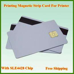 Impresoras de inyección de tinta gratis en venta-Tarjeta de la tira magnética de la impresión de la venta al por menor 50Pcs / SET del envío libre con la viruta SLE4428, tarjeta compuesta del PVC para la impresora de inyección de tinta de epson / Canon