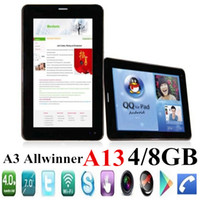 7 android 4.0 tablet - JW Free DHL Big Mobile Smart Android Cell Phone A13 Tablet PC Inch Android Q88 Dual Camera quot GSM Tablets M G ROM