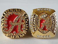 2pcs Alabama Crimson 2009 2011 marea Campeonato Nacional de fútbol anillo Replica tamaño 11 Estados Unidos mejor regalo para la colección de ventiladores alta calidad