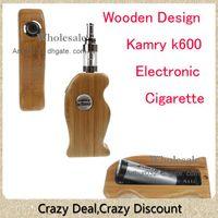 Wholesale New Arrival Wooden K600 Kit Big Vapor Newest Designed k600 E Cigarette Wooden Style Beautiful Wood Box Mod Electronic Cigarette Kit