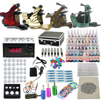 5 Guns Professional Kit  USA Dispatch Starter Tattoo Kit set 5 Tattoo Machine Guns 2 Grips Needles 40 Ink Power Equipment(USwarehouse)
