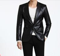 leather coat men - Fashion men leather coat men leather jackets colours can choose