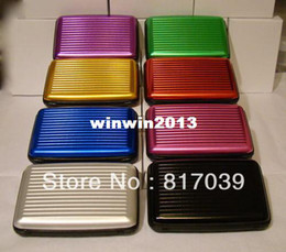 Wholesale pc Solid color Aluminium material credit card case wallet cool colors to choose