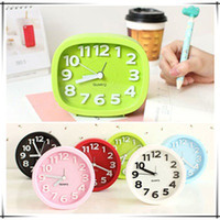 12077 Alarm Modern Brief Candy Color Stereo alarm clock Cirl...