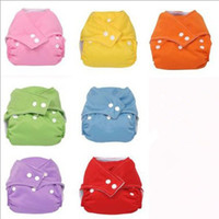 Wholesale Newest Waterproof Reusable Washable Baby Nappy Diapers Colors Inserts