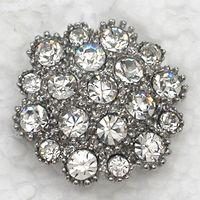 Wholesale Clear Crystal Rhinestone Bride Bridesmaid Wedding Party prom Pin Brooch Fashion jewelry gift C664 A