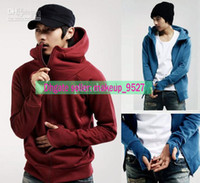 Wholesale Autumn Winter New Fashion Casual Hoodies amp Sweatshirts For Men Slim Top Designed Warm Outwear Size Colors