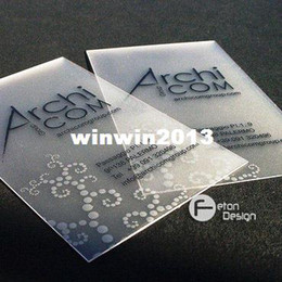 Wholesale BC01 high quality waterproof clear customized printing service pvc transparent plastic business name card design vip menbers