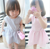 Pure Cotton Simple Girl Summer 2014 Kids Dress Small Stripe ...