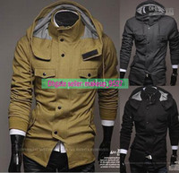 Free shipping New 2014 Autumn Winter Men Trench Coat Warm Ou...