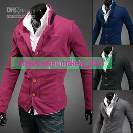 Wholesale Autumn Korean Suits For Men Casual Chic Slim Fitted Blazer Jacket Cotton Blend Colors