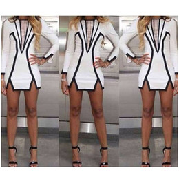 2017 New Fashion Dress Western Style Women Bodycon Ladies Sexy Party Bandage Dress Pencil Dresses Skirts White Mini Dress YQ20
