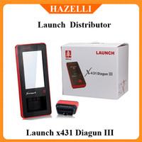 Wholesale 100 Online update New Arrival Auto Diagnostic Scanner Original Launch X431 Diagun III Update via internet