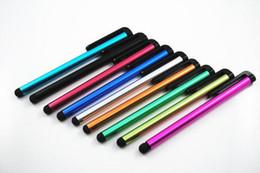 Stylet universel stylo à écran tactile pour ipad iphone Samsung HTC capacitif écran tactile Tablet PC 10 couleurs 1000pcs 2000pcs 3000pcs 5000pcs