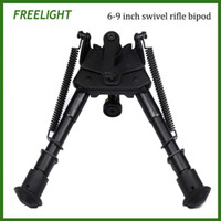 adjustable height leg - 6 inch Harris pivoting bipod with Locking Handle Kits for Swivel Bipod Adjustable height extendable legs Hinged base for hunting