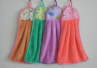 Wholesale Microfiber cartoon kitchen hand towel suspension type cute baby Kitchen towel fashion Household goods