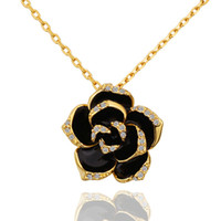 Wholesale Chunky Necklaces Wedding Necklaces Floral Pendant Gold Plated Necklace