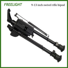 Wholesale 9 inch Haaris style bi pod Foldable Tactical Mount bipod Adjustable legs for Rifle with Pod Lock for the swivel style Harris Bipods