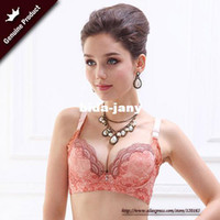 Wholesale Explosion models Luxury lace Embroidery water bag bra set A cup into a C cup Push Up bra Bra Panties