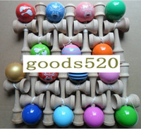 Wholesale Professional Kendama Ball Japanese Traditional Wood Game Kids Toy PU Paint amp Beech Good Quality