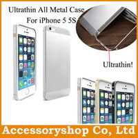 Metal armor all - For iPhone S Ultrathin All Metal Aluminium Alloy Case Metal Armor Cover New No Screwing Luxury Fashion Back Shell amp Bumper Free DHL