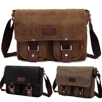 Wholesale S5Q Men s Cross Body Canvas Bag Vintage School Satchel Military Laptop Shoulder Messenger AAADBY