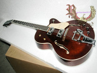 Wholesale New Arrival brown Hollow Electric Guitar Jazz Guitar withBigbys OEM Musical instruments