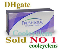 Wholesale Cost free case anti counterfeiting label pairs Freshlook Contact lenses color contact lens crazy lens Tones
