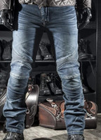 Wholesale Motorcycle pants jeans R2 Locomotive jeans With knee protector Rider pants CE Gear Motorcycle Shorts Leisure Cultivate Jeans for four season